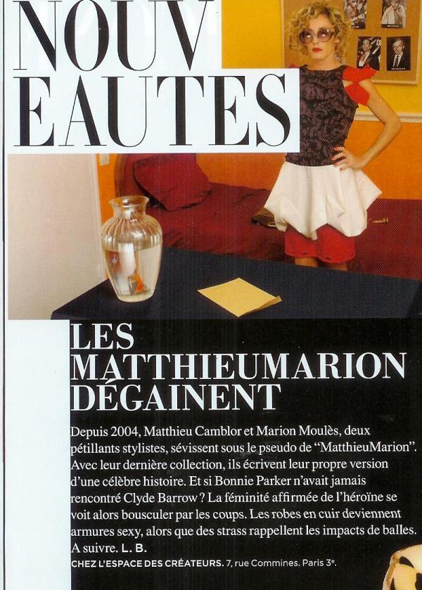 MatthieuMarion dans le magazine L'Officiel