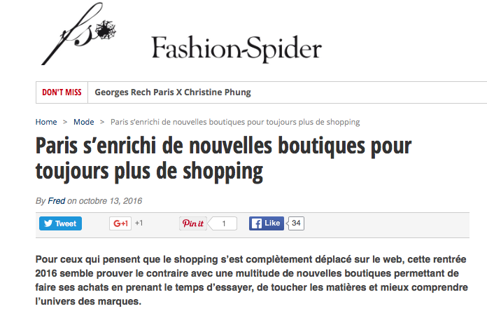 Fashion Spider blog